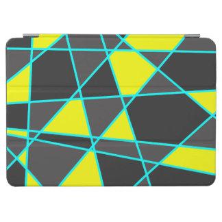 Capa Para iPad Air amarelo de néon brilhante geométrico elegante e