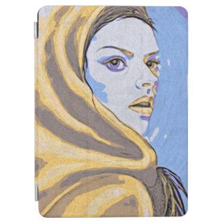 Capa Para iPad Air Amarelo do woodblock da senhora