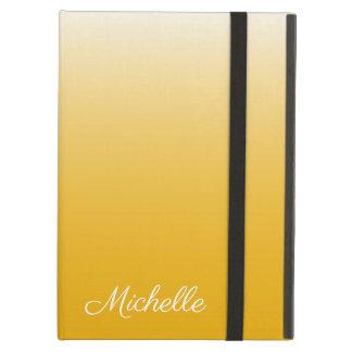 Capa Para iPad Air Amarelo personalizado do ombre do inclinação