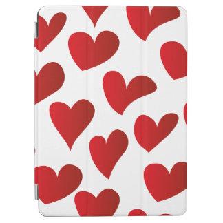 Capa Para iPad Air Amor vermelho pintado teste padrão do coração da