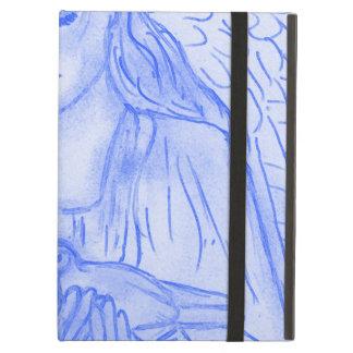 Capa Para iPad Air Anjo calmo no azul