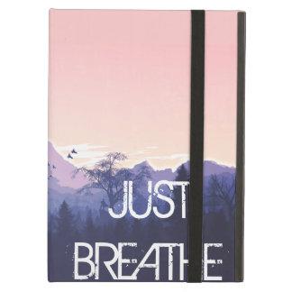 Capa Para iPad Air Apenas respire o design da montanha