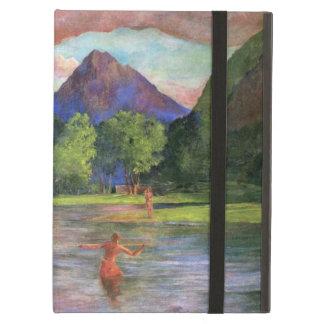 """Capa Para iPad Air """"Arrebol da tarde, rio de Tautira, Tahiti"""" - John"""