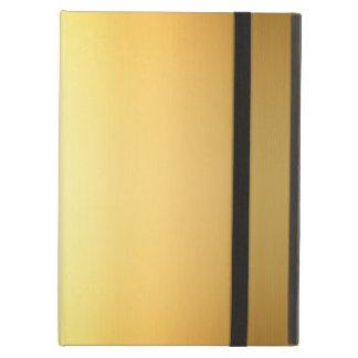 Capa Para iPad Air Arte amarela do inclinação da cor do ouro, caixa