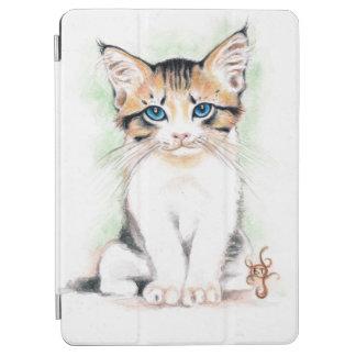 Capa Para iPad Air Arte bonito da aguarela do gato malhado