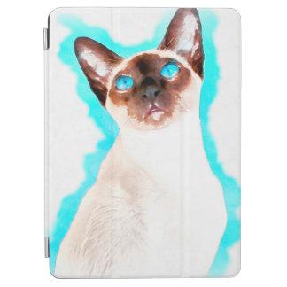 Capa Para iPad Air Arte da aguarela do gato Siamese