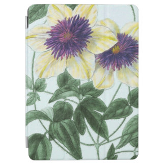 Capa Para iPad Air Arte da flor do Clematis