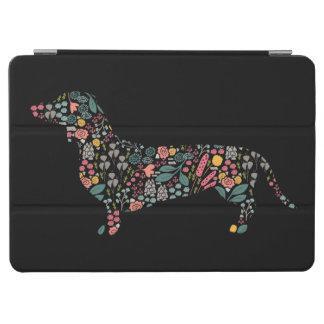 Capa Para iPad Air Arte floral da aguarela do teste padrão do cão do