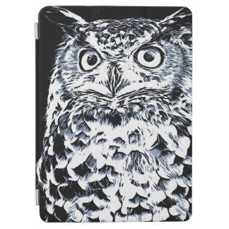 Capa Para iPad Air Arte grande da coruja Horned