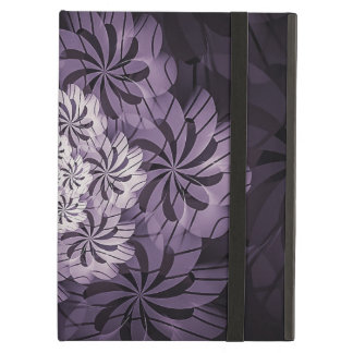 Capa Para iPad Air Arte listrada roxa floral do Fractal, caixa do ar