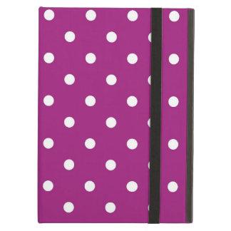 Capa Para iPad Air Arte roxa & branca das bolinhas, caixa do ar do