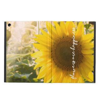 """Capa Para iPad Air As citações """"flores do girassol são felicidade """""""