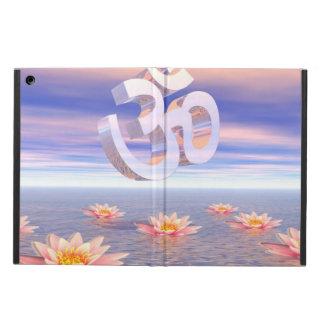 Capa Para iPad Air Aum - OM em cima dos waterlilies - 3D rende