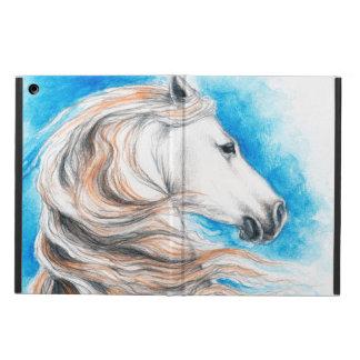 Capa Para iPad Air Azul andaluz do cavalo