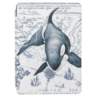 Capa Para iPad Air Azul do mapa da orca