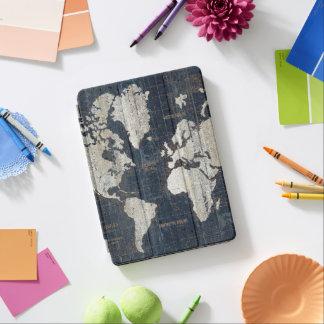 Capa Para iPad Air Azul do mapa de Velho Mundo