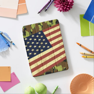 Capa Para iPad Air Bandeira americana Camo