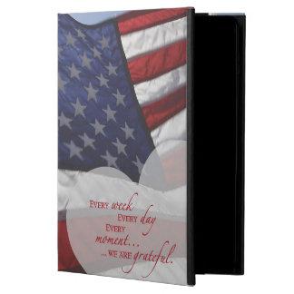 Capa Para iPad Air Bandeira patriótica do coração, apreciação militar