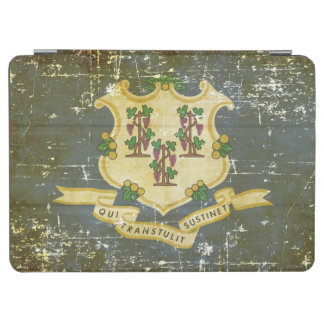 Capa Para iPad Air Bandeira patriótica gasta do estado de Connecticut