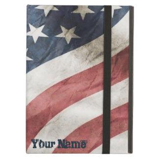 Capa Para iPad Air Bandeira velha retro dos E.U. da glória do vintage