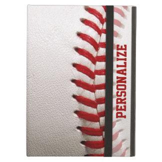 Capa Para iPad Air Basebol com costura do vermelho e nome