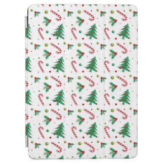 Capa Para iPad Air Bastões de doces, visco, e árvores de Natal