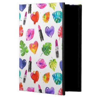 Capa Para iPad Air Batons do beijo do pino das folhas de palmeira da