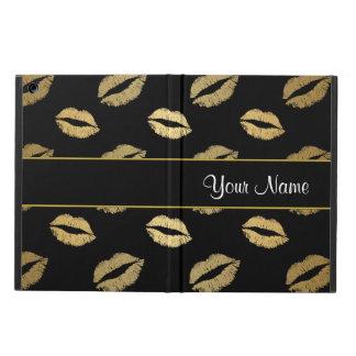 Capa Para iPad Air Beijos do preto e do ouro