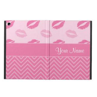 Capa Para iPad Air Beijos e ziguezagues rosa e branco