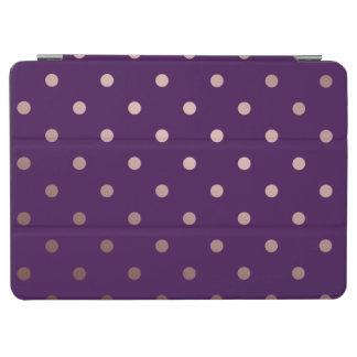 Capa Para iPad Air bolinhas cor-de-rosa do roxo do ouro do falso