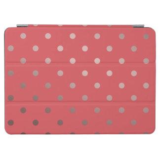 Capa Para iPad Air bolinhas cor-de-rosa do vermelho do ouro do falso