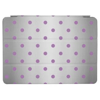 Capa Para iPad Air bolinhas de prata do falso roxo elegante