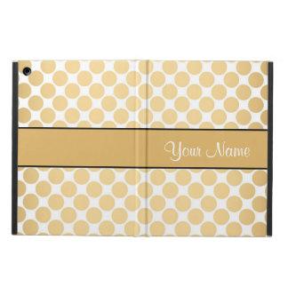Capa Para iPad Air Bolinhas do ouro no fundo branco