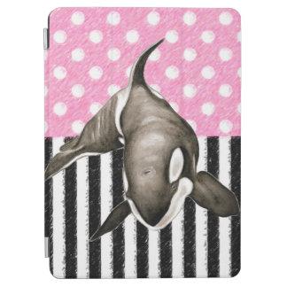 Capa Para iPad Air Bolinhas do rosa da baleia da orca