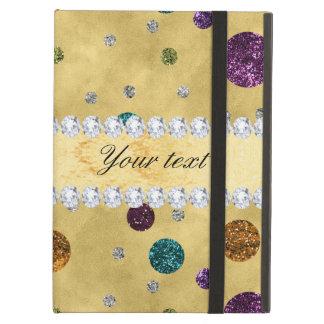 Capa Para iPad Air Bolinhas e diamantes do brilho