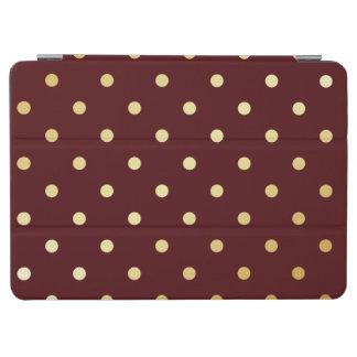 Capa Para iPad Air bolinhas elegantes do marrom do ouro do falso