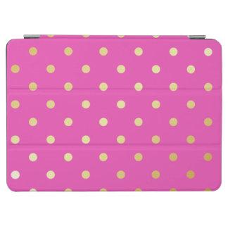 Capa Para iPad Air bolinhas elegantes do rosa do ouro do falso