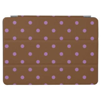 Capa Para iPad Air bolinhas marrons roxas elegantes
