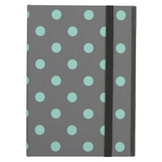 Capa Para iPad Air Bolinhas modernas bonitos das cinzas & do Aqua de
