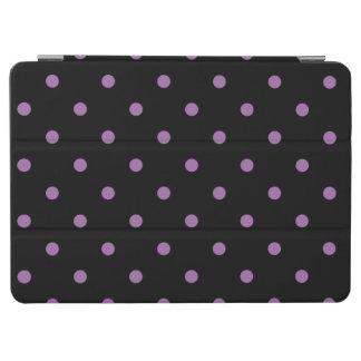 Capa Para iPad Air bolinhas pretas roxas elegantes
