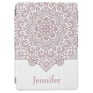 Capa Para iPad Air Branco intrincado da mandala do laço do ouro
