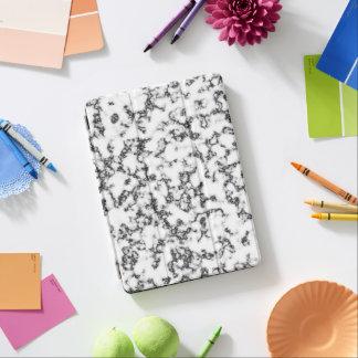 Capa Para iPad Air Branco preto de mármore
