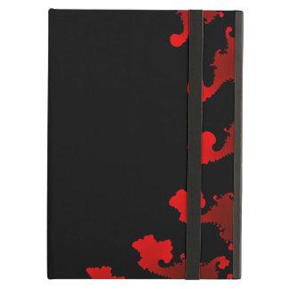 Capa Para iPad Air Branco preto vermelho do Fractal
