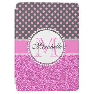 Capa Para iPad Air Brilho cor-de-rosa e bolinhas cor-de-rosa nas