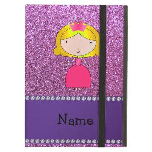 Capa Para iPad Air Brilho roxo pastel personalizado da princesa conhe