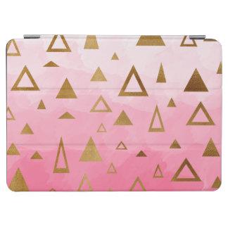 Capa Para iPad Air brushstrokes geométricos do rosa pastel dos