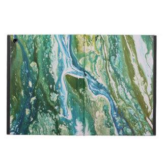 Capa Para iPad Air Cachoeira azul verde abstrata colorida de turquesa