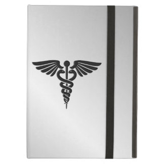 Capa Para iPad Air Caduceus médico de prata