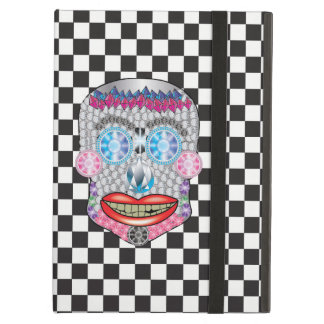 Capa Para iPad Air Caixa Checkered do ar de Ipad do crânio dos doces