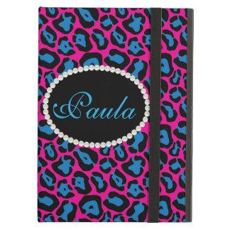 Capa Para iPad Air Caixa cor-de-rosa & azul chique de Ipad do